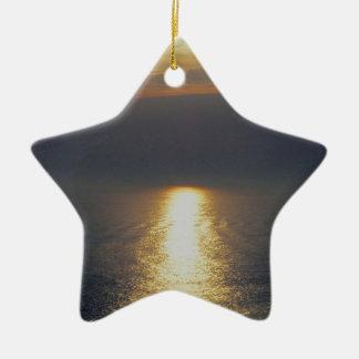 Devon del sur alimenta la puesta del sol de Autunm Adorno De Cerámica En Forma De Estrella