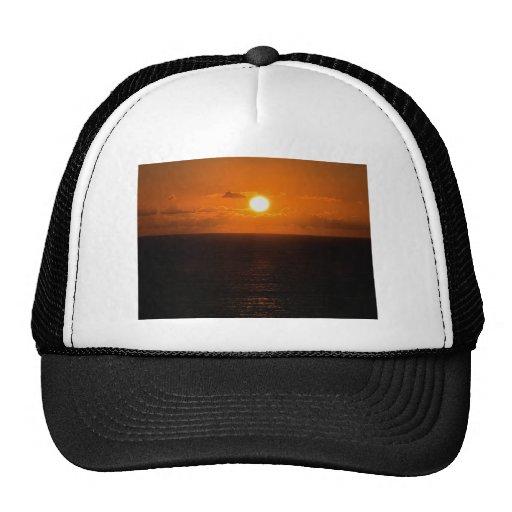 Devon del sur de la puesta del sol del autunm de l gorras de camionero