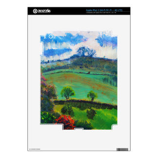 Devon England Countryside Landscape Painting iPad 3 Skins