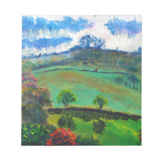 Devon England Countryside Landscape Painting Notepad