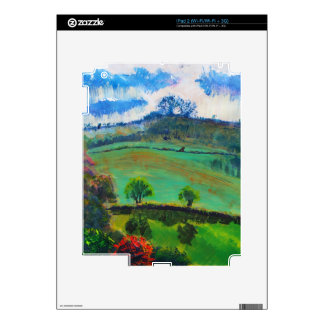 Devon England Countryside Landscape Painting Skins For iPad 2