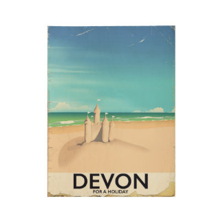 Devon, England for a holiday. Wood Poster