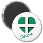 Devon Flag Heart with Name Magnet