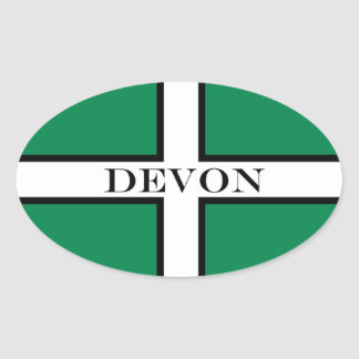 Devon flag oval sticker