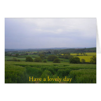 Devon Landscape.General Greetings Card