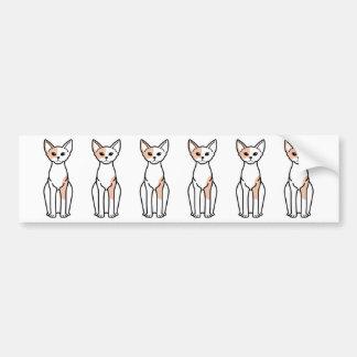 Devon Rex Cat Cartoon Bumper Sticker