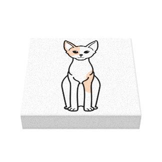 Devon Rex Cat Cartoon Canvas Prints