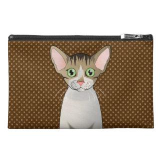 Devon Rex Cat Cartoon Paws Travel Accessory Bags