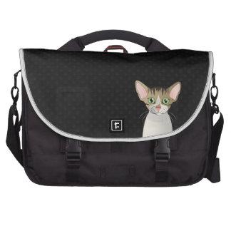 Devon Rex Cat Cartoon Paws Commuter Bags