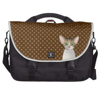 Devon Rex Cat Cartoon Paws Bag For Laptop