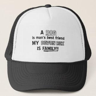 devon rex  cat design trucker hat