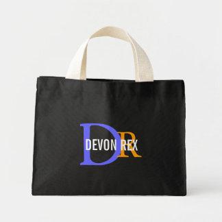 Devon Rex Cat Monogram Design Bags
