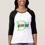 Devon Rex Cat Monogram Design T-Shirt