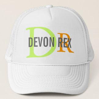 Devon Rex Cat Monogram Design Trucker Hat