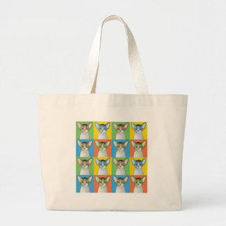 Devon Rex Cat Pop-Art Bag