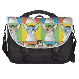 Devon Rex Cat Pop-Art Laptop Computer Bag
