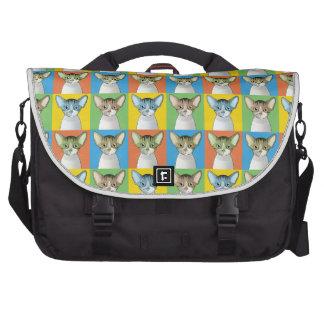 Devon Rex Pop-Art Bags For Laptop