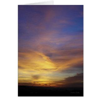 Devon Sunset blank notelet / card