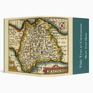 """Devonshire"" Devon County Map, England 3 Ring Binder"