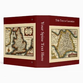 """""""Devonshire"""" Devon County Map, England Binder"""