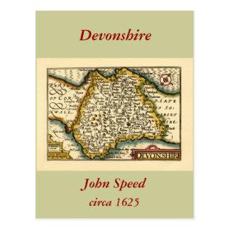 Devonshire Devon County Map England Postcard