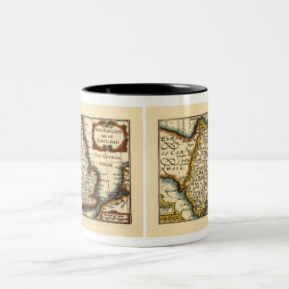 """Devonshire"" Devon County Map, England Two-Tone Coffee Mug"