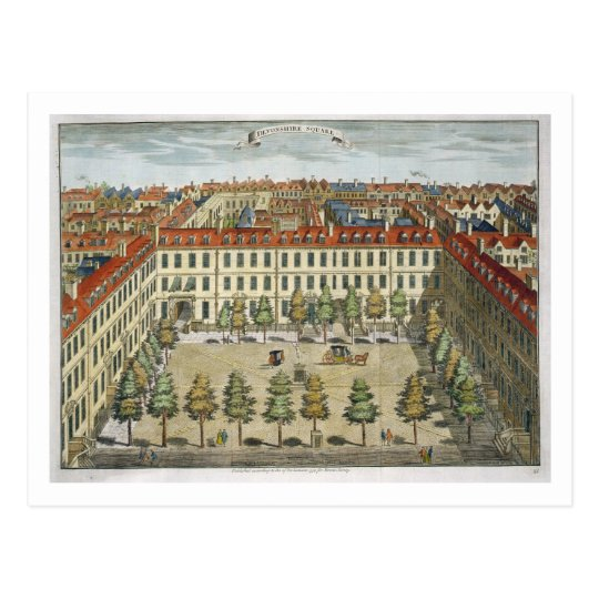 Devonshire Square, for 'Stow's Survey of London', Postcard