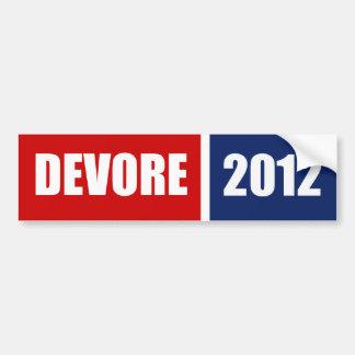 DEVORE 2012 BUMPER STICKER