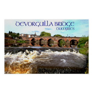 devorguilla bridge, dumfries print
