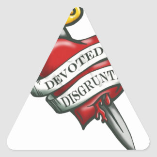 Devoted and disgruntled triangle sticker