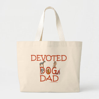 Devoted Dog Dad Canvas Bags