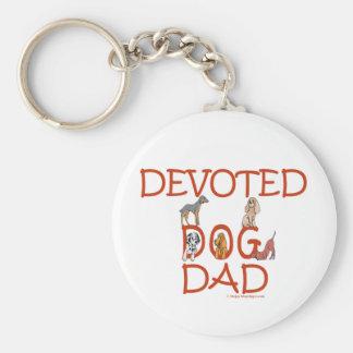 Devoted Dog Dad Keychains