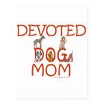 Devoted Dog Mom Postcard