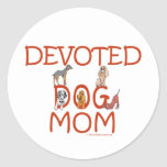 Devoted Dog Mom Sticker