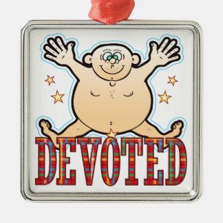 Devoted Fat Man Metal Ornament