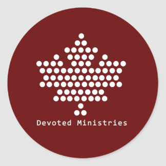 Devoted Ministries Sticker (Red)