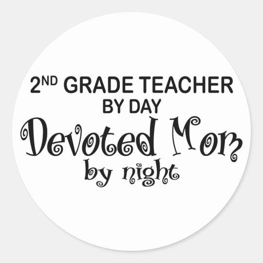 Devoted Mom - 2nd Grade Classic Round Sticker