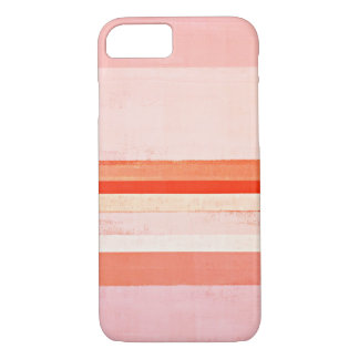 'Devoted' Pink and Coral Abstract Art Painting iPhone 7 Case