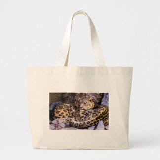 Devoted Snow Leopards Canvas Bags
