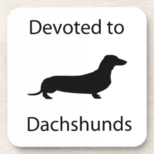 Devoted to Dachshunds Drink Coaster