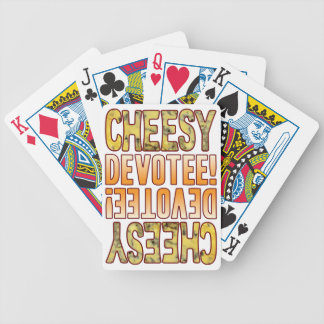 Devotee Blue Cheesy Bicycle Playing Cards
