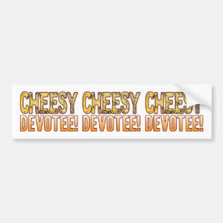Devotee Blue Cheesy Bumper Sticker