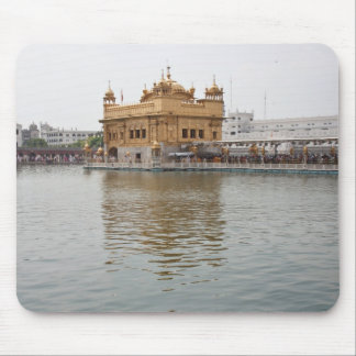 Devotees and Golden Temple in Amritsar Mouse Pad