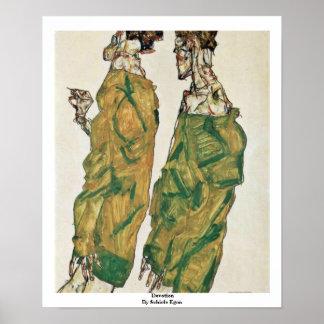 Devotion By Schiele Egon Poster