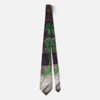 Devoto verde 1901 de la diosa corbata personalizada