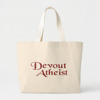 Devout Atheist Large Tote Bag