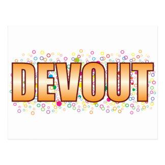 Devout Bubble Tag Postcard