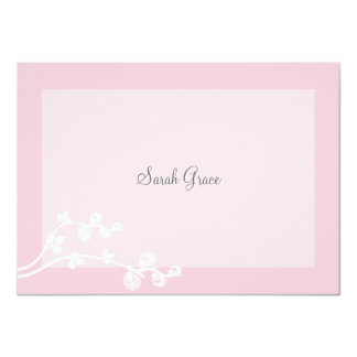"Devout Personalized Notecard 4.5"" X 6.25"" Invitation Card"