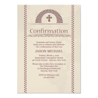 Devout Spirit Confirmation Invitation