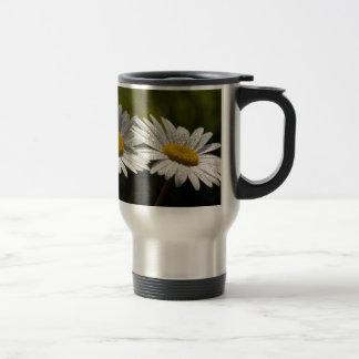 Dew Bejeweled Ox-eye Daisy Wildflowers Travel Mug